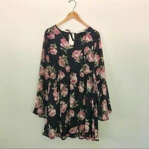 The Impeccable Pig Floral Long-Sleeve Dress